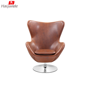 Lounge modern durable furniture with metal frame leather egg chair