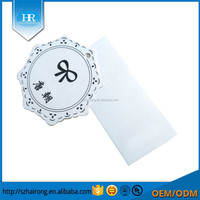 Newest Customize high quality Gloss Lamination Clothing Tag roll tag printable
