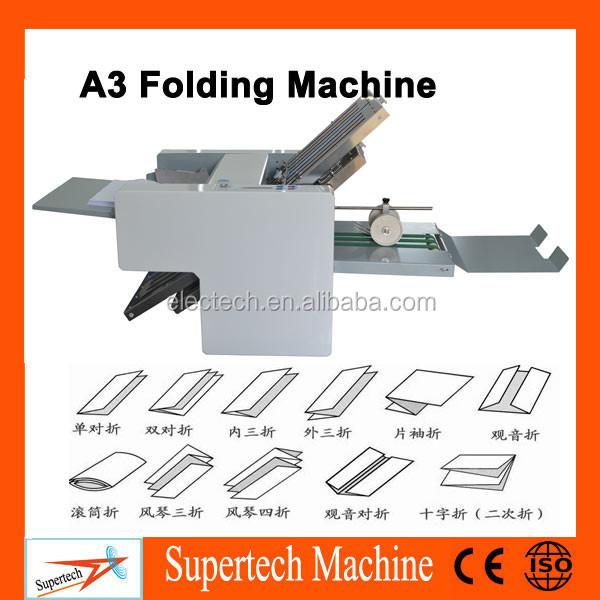 Automatic High Speed Desktop A3 Paper Folding Machine,Small W ...