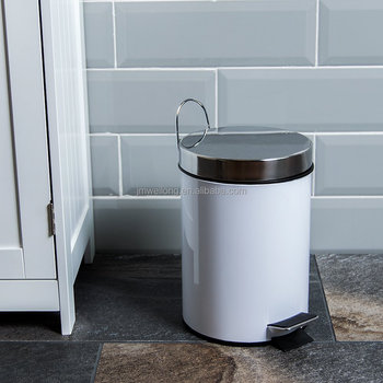 White Kitchen Bin bathroom kitchen bin 3 litre stainless steel waste rubbish