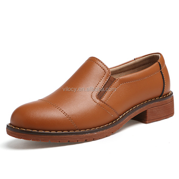 b1b60f393c53f High Quality Women Classic Shoes Slip-on Genuine Leather High Heel Loafers