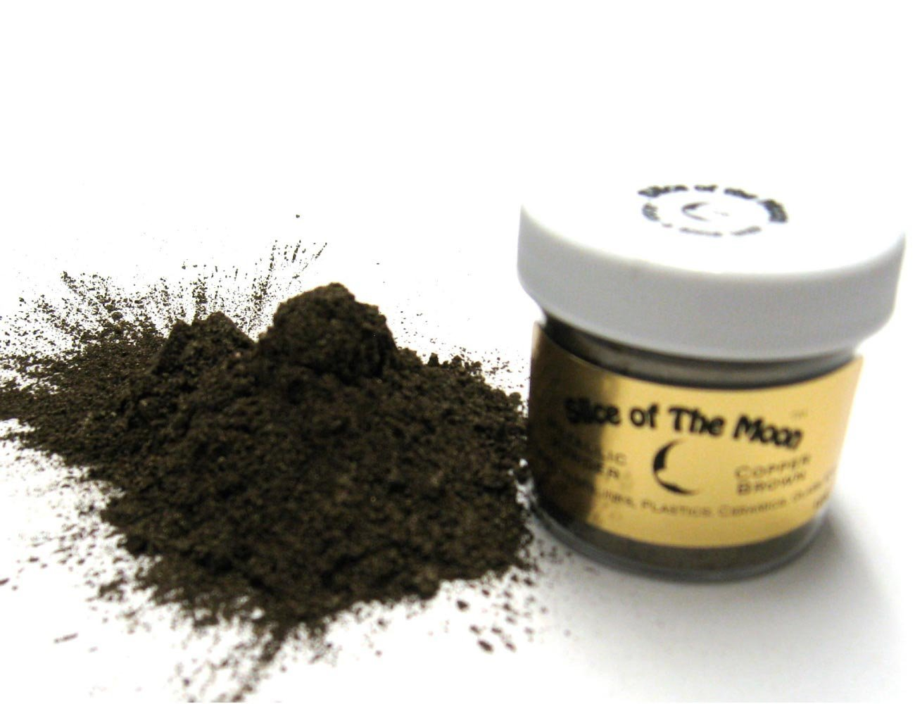 Copper Brown Mica Powder 1oz, Brown Metallic Powder, Cosmetic Mica, Slice of the Moon