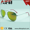 made in china wholesale sunglasses UV400 kids sunglasses eyewear with yellow mirror lens