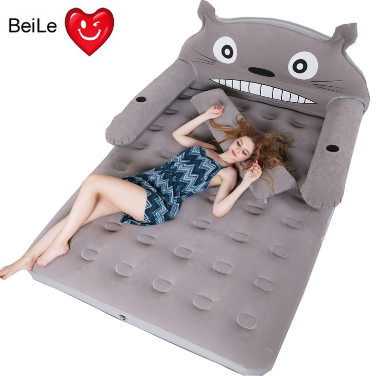 Cartoon cute totoro bed folding double inflatable bed for home use