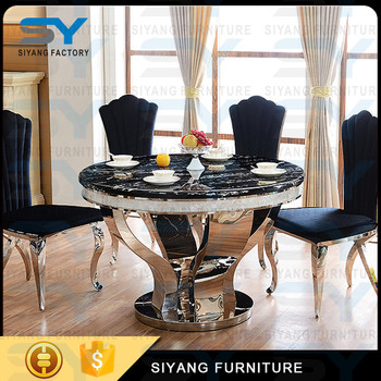 Modern Round Marble Dining Table Set,Baroque Dragon Mart Dubai Marble  Dining Table 6 Seater Artificial Marble Dining Tablect022   Buy Dubai  Marble ...