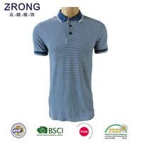 Alibaba Online Shopping Polo Tshirt For Men Custom Design blue and white stripe Polo Shirt