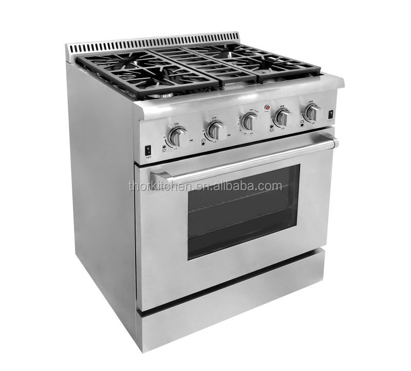 Pro Free Standing Gas Cooker Oven Grill 4 Burner And