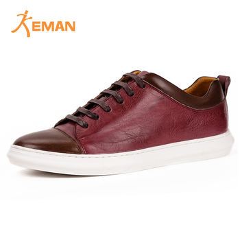 Hot selling men custom sneaker manufacturers handmade leather shoes