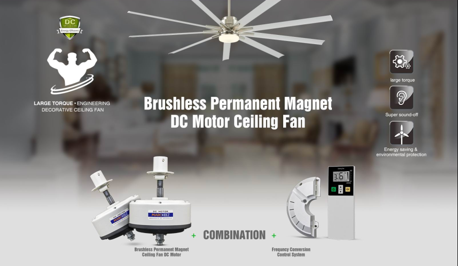 38 inch aluminum blade DC brushless permanent magnet big ceiling fan decorative ceiling fan industrial fan with LCD remote