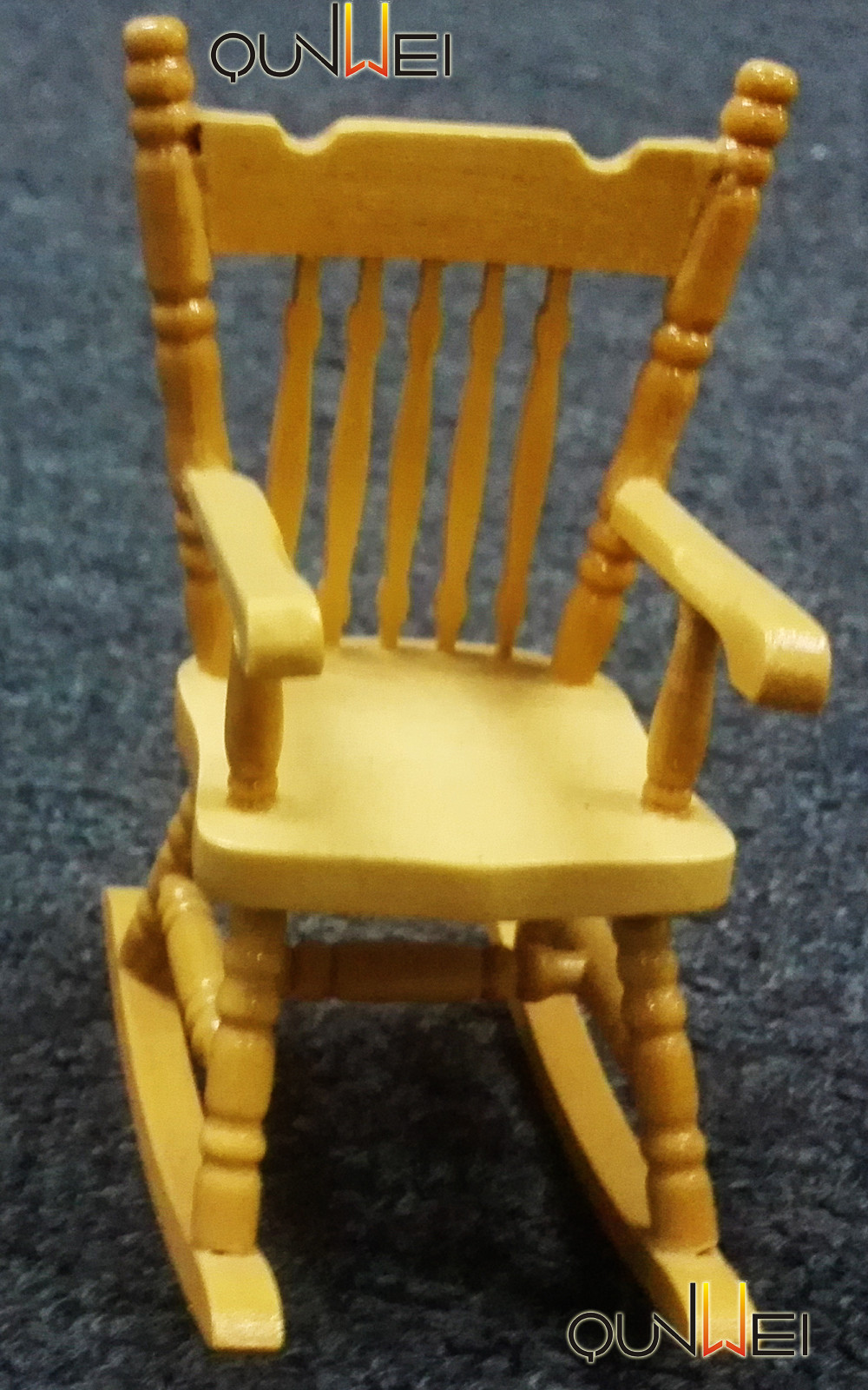 1 12 Scale Dollhouse Miniature Wooden Rocking Chairs Buy