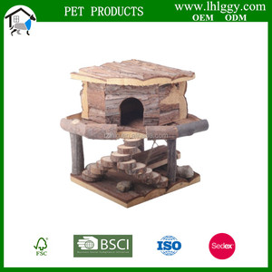 Natural wooden hamster House Run Breeding Cage Pet Care
