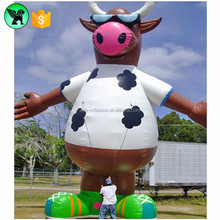 Sporting season event celebration decoration giant inflatable bull / inflatable cow ST202
