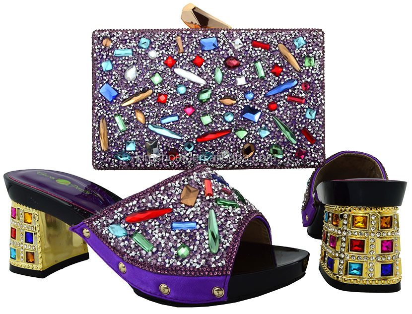 Colorful 2017 African Bags 18 Big To And Set Match Shoes BCH Shoes Bag Rhinestones And Bag Italian Women With With Shoe Matching qHYr4q