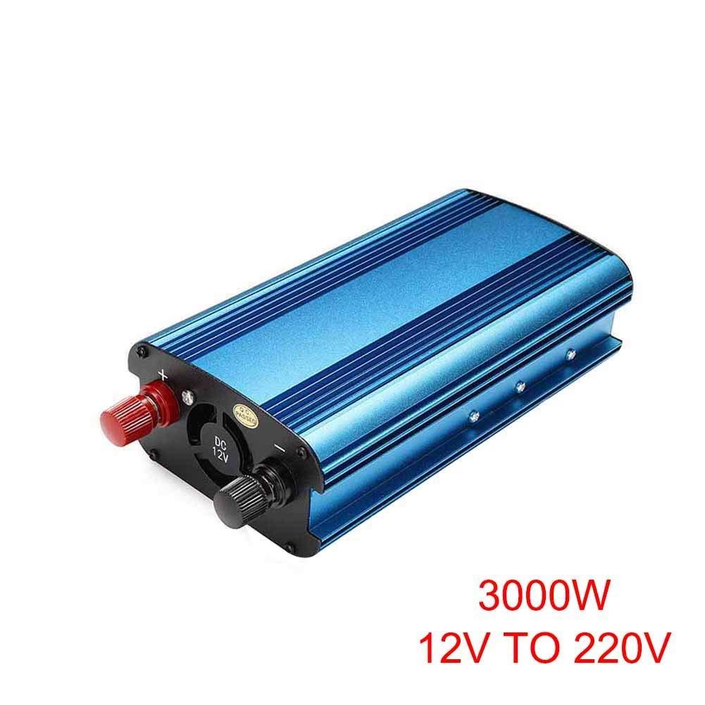 Ywillink 3000W Car Solar Power Inverter DC 12V to AC 220V Modified Sine Wave Converter