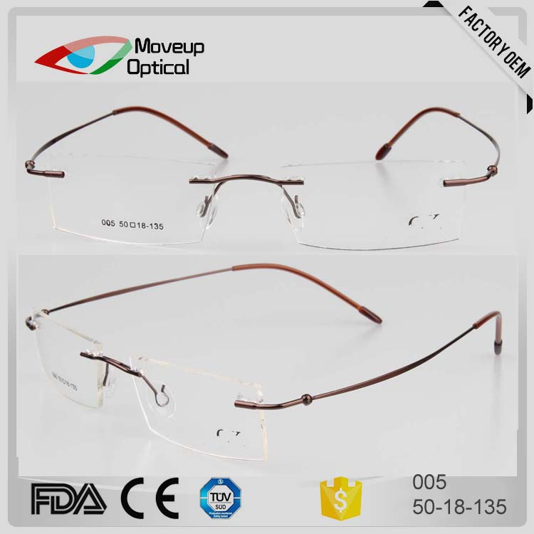 New model nice metal eyesjoy optical rimless frames glasses for women
