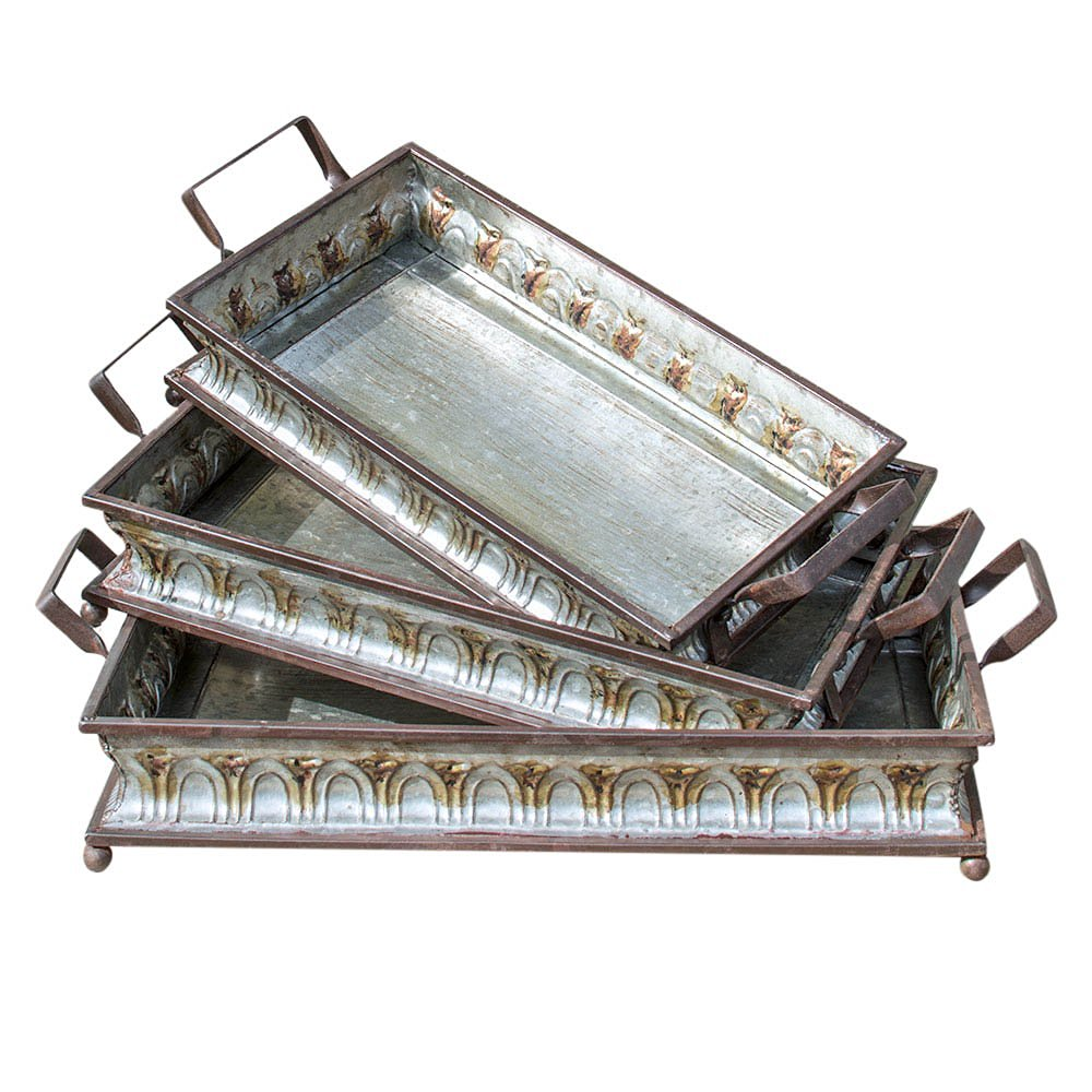 silver decoration organizer home decorative rustic small serving ebay trays itm tray table for decor