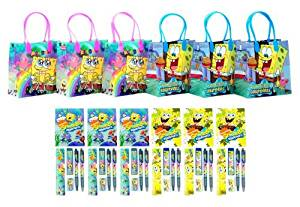 SpongeBob SquarePants Party Favor Stationery Set - 6 Packs (42 Pcs)