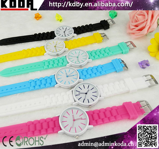 cheap watches in bulk plastic bezel watches multi color band watches
