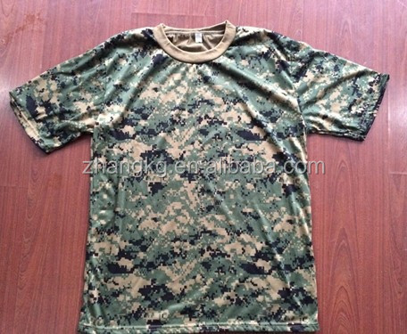 professional produced nice camouflage t-shirt in wholesale price