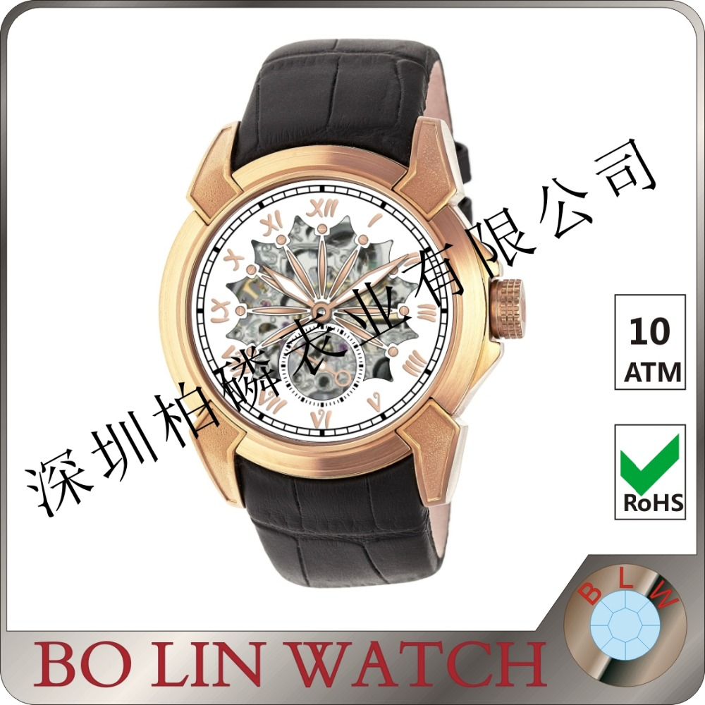 2016 Best Vogue Stainless Steel Mens Most Expensive Watch Brands Mechanism Automatic Style