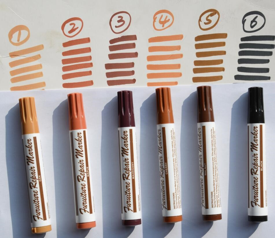 Furniture Marker 12 Pc Wood Stain Markers Set