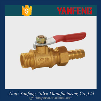 China Supplier Manufacture 1/4 Brass Flexible Joint Ball Valve For ...