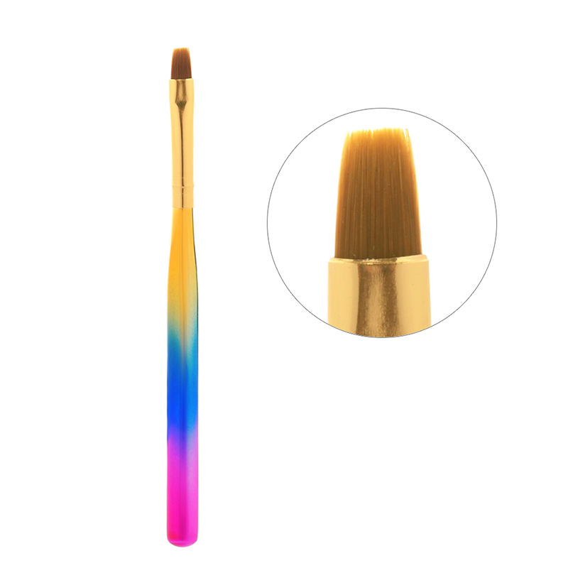 New Nail Art Gel Brush Gradient color Handle Nail Art Brush