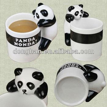 Creative ceramic cute panda animal shaped mugs buy for Animal shaped mugs