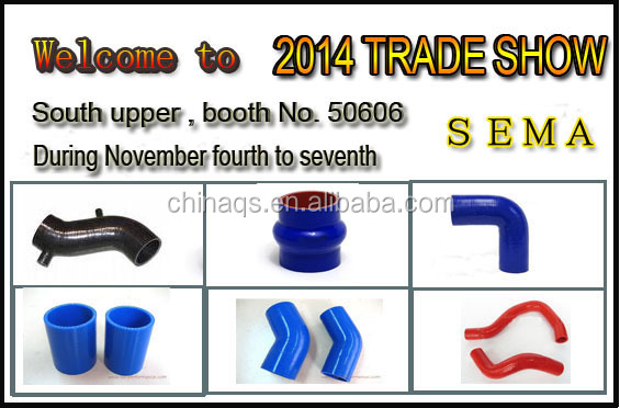 High performance high temperature hump silicone hose/radiator hose flexible silicone hose