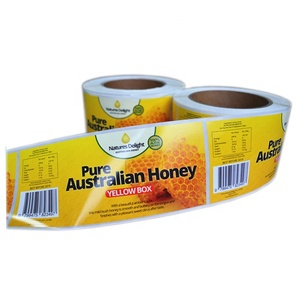 High quality custom Honey personalized labels roll adhesive paper label stickers