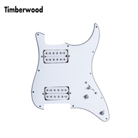 White Loaded Strat Stratocaster Electric Guitar Prewired Pickguard with Ceramic Double Coils Humbucker Pickups Fits For Fender