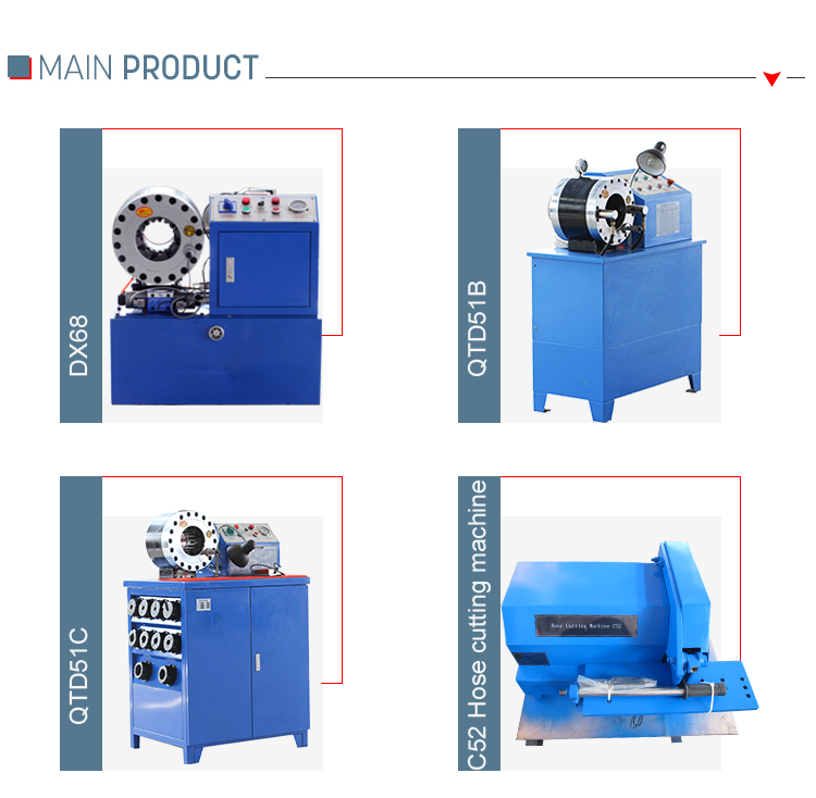 Ce Wire Rope Manual Manual Hose Crimping Machine Factory
