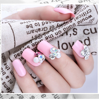 2019 Elegant Shiny Alloy Nail Art Decoration With Colorful Crystal ...