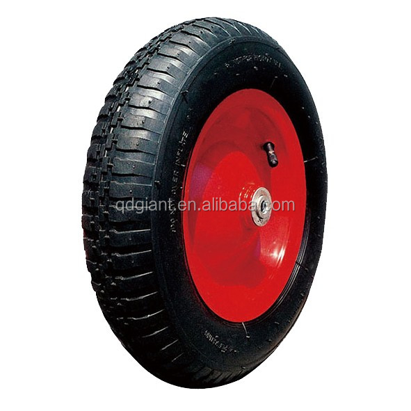 "14"" comb pattern pneumatic wheel for wheelbarrow"