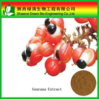 Pure guarana seeds extract 20%Caffeine powder extraction guarana