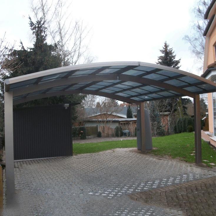 Protezione Solare di alluminio Posto Auto Coperto per il Parco di Alta Qualità DIY Facile Elegante In Alluminio/PC Solido porta Auto A Casa