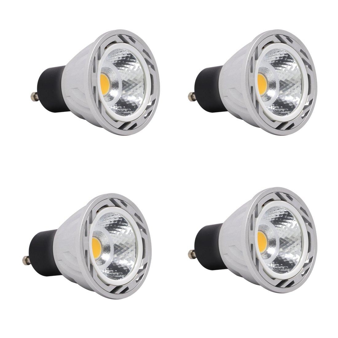 Ulight GU10 led Light Bulbs 5W 120V 550lm CRI 85, 50W Halogen Bulb Equivalent, for Track Lighting or recessed Light-Pack of 4 (Warm Whtie 2700K)