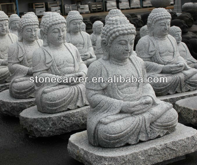 grande statue bouddha en pierre grandeur nature pour jardin statues id de produit 500004416168. Black Bedroom Furniture Sets. Home Design Ideas