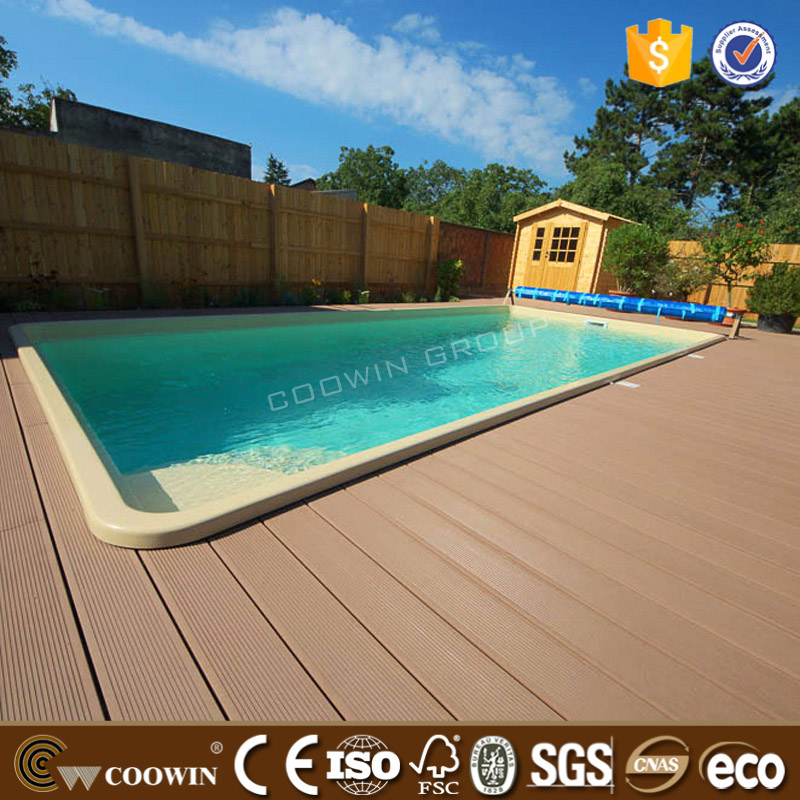 Anti-rot and mildew 60 degree USE 30years WPC Swimming pool <strong>flooring</strong>