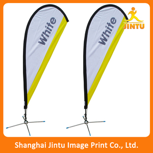 Full color eco solvent flying advertising flag, teardrop advertising flag banner