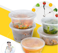 750ml Round and Fast Food Use and Disposable PP plastic food packaging Plate / Bowl / Container / Tray