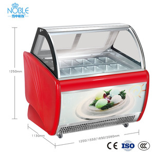 Table top frost free ice cream chiller Air cooling gelato cabinet display showcase for ice cream