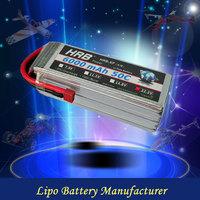 High discharge 50C lipo rc battery 6s 6000mah 22.2v rc plane batteries pack