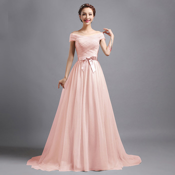 QX4012 long bridesmaid dresses evening wear trailing new party evening dress