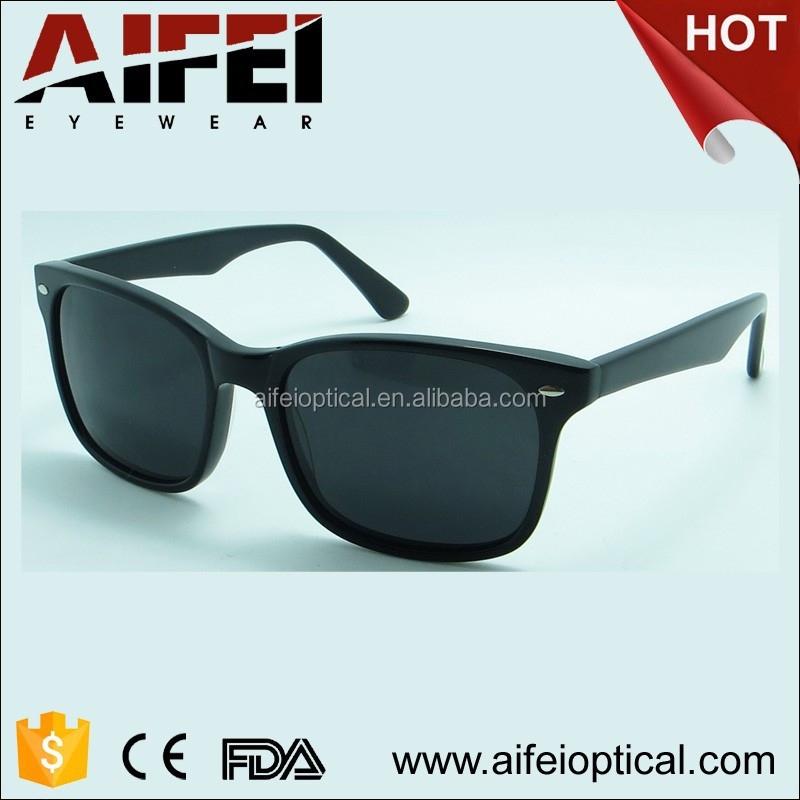 Hot sale and vogue acetate sun glasses with metal hinge