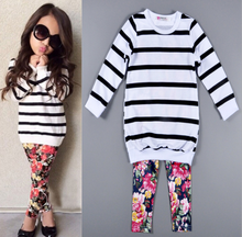X82908A Baby Girls Clothes 2 Pcs set Outfits For Kids clothes wholesale children's boutique clothing set