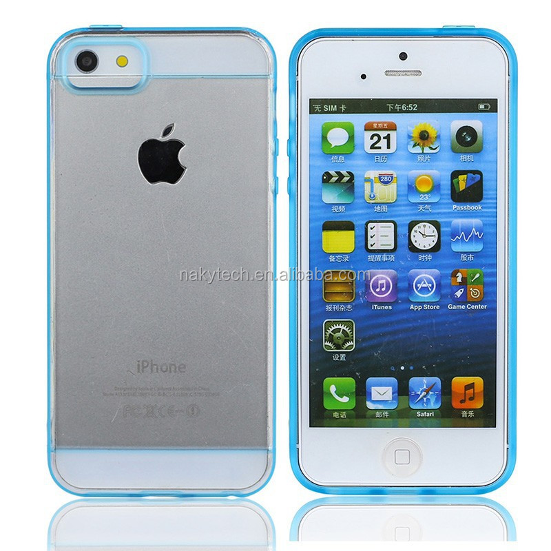 Protective Bumper Plating PC+TPU Case for iphone5