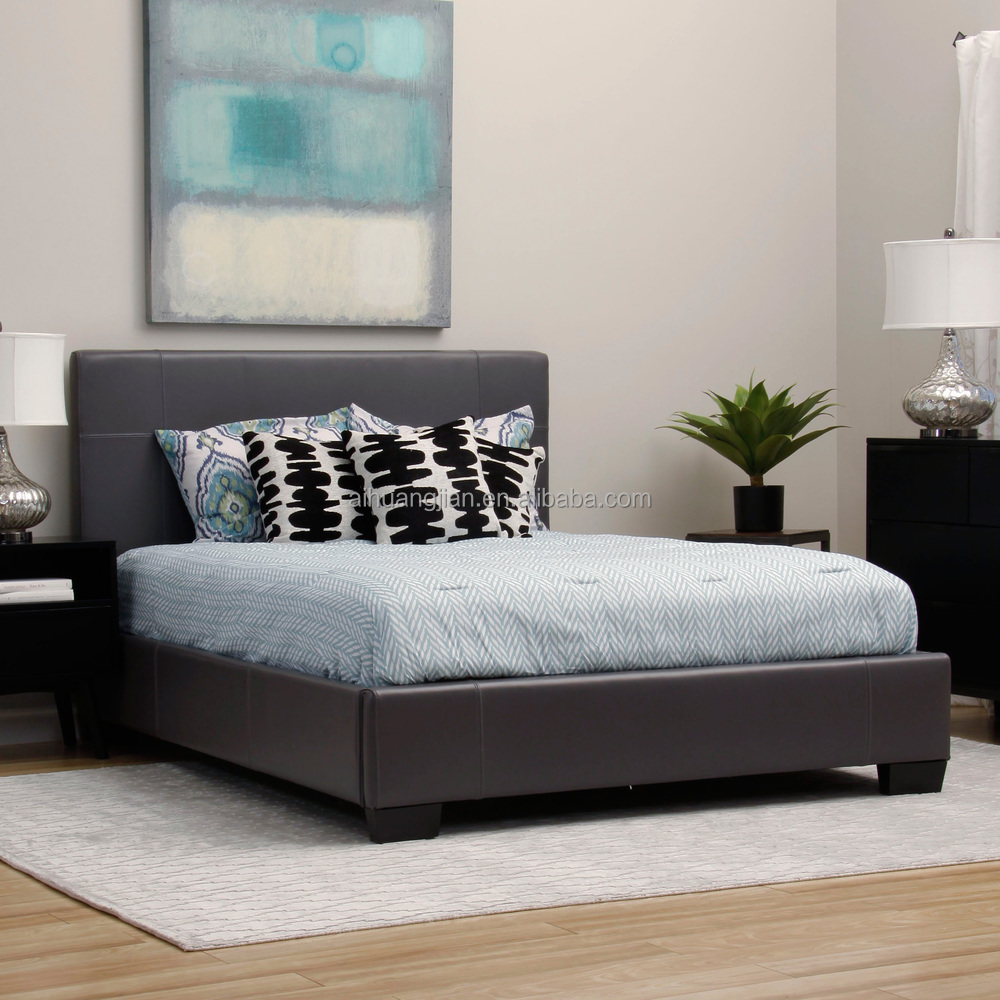 Very Low Bed Part - 15: Best Price Pu Leather Bed, Very Low Price Cheap PVC Leather Bed Frame,  Simple