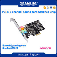 CMI8738-6CH PCI Express Sound Card/6 channel Audio adapter/Internal Sound Card in Stock