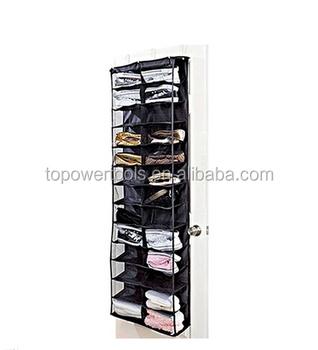 26 Pocket Hanging Over The Door Shoe Storage With 3 Hooks Buy Shoe Storage26 Pocket Shoe Organizer26 Pocket Hanging Over The Door Shoe Organizer